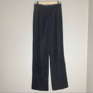 Max Mara Gray Wide Pants Pleated Wool Blend Casual
